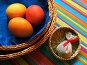 Пасхальный натюрморт с крашеными яйцами, фото № 231793, снято 25 января 2007 г. (c) only / Фотобанк Лори