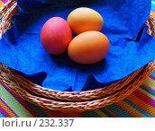 Купить «Пасха. Крашеные пасхальные яйца», фото № 232337, снято 25 января 2007 г. (c) only / Фотобанк Лори