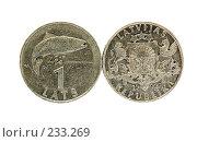 Купить «Монета в один лат», фото № 233269, снято 26 марта 2008 г. (c) Игорь Соколов / Фотобанк Лори