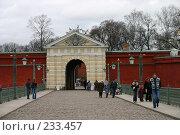 Купить «Санкт-Петербург. Ворота в Петропавловскую крепость.», фото № 233457, снято 10 мая 2005 г. (c) Александр Секретарев / Фотобанк Лори