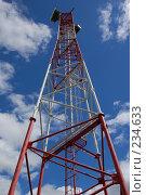 Купить «Антенная опора на фоне облачного неба», фото № 234633, снято 1 июня 2006 г. (c) Лебедев Максим / Фотобанк Лори