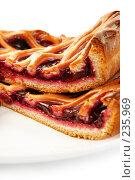 Купить «Кусочки вишневого пирога», фото № 235969, снято 22 января 2018 г. (c) Роман Сигаев / Фотобанк Лори