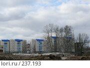 Купить «Строительство нового района», фото № 237193, снято 19 августа 2018 г. (c) Наталья Ярошенко / Фотобанк Лори