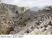 Купить «Руины амфитеатра на месте города Термес. Турция.», фото № 237661, снято 28 мая 2018 г. (c) Сергей Пономарев / Фотобанк Лори