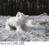 Купить «Фигурки слоника и ёжика из снега», эксклюзивное фото № 240285, снято 22 марта 2008 г. (c) lana1501 / Фотобанк Лори