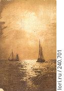 Купить «Старая открытка. Ночь на море.», фото № 240701, снято 23 мая 2018 г. (c) Булатенкова Нина / Фотобанк Лори