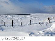 Набережная Белого моря зимой. Стоковое фото, фотограф Шемякин Евгений / Фотобанк Лори