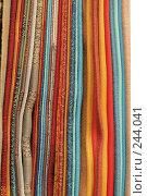Купить «Образцы ткани. Фон», фото № 244041, снято 4 апреля 2008 г. (c) Tatiana Lykova / Фотобанк Лори