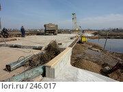 Купить «Строительство моста», фото № 246017, снято 3 апреля 2008 г. (c) Александр Буровцев / Фотобанк Лори