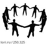 Купить «Круг деловых людей», иллюстрация № 250325 (c) Losevsky Pavel / Фотобанк Лори