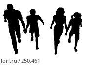 Купить «Семья на прогулке», иллюстрация № 250461 (c) Losevsky Pavel / Фотобанк Лори