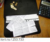 Купить «Квитанции об уплате налогов», эксклюзивное фото № 253733, снято 4 апреля 2008 г. (c) Олег Хархан / Фотобанк Лори