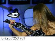 Купить «Девушка на мотоцикле», фото № 253761, снято 12 апреля 2008 г. (c) Суханова Елена (Елена Счастливая) / Фотобанк Лори