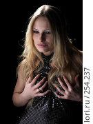 Купить «Красивая блондинка в вечернем платье», фото № 254237, снято 14 февраля 2008 г. (c) hunta / Фотобанк Лори