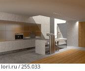 Купить «Кухня с окном в потолке», иллюстрация № 255033 (c) Юрий Бельмесов / Фотобанк Лори