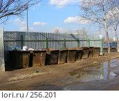 Купить «Контейнеры с мусором, микрорайон «1 Мая», Балашиха, Московская область», эксклюзивное фото № 256201, снято 28 марта 2008 г. (c) lana1501 / Фотобанк Лори