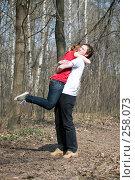 Купить «Влюблённая пара», фото № 258073, снято 12 апреля 2008 г. (c) Сергей Лаврентьев / Фотобанк Лори