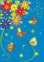 Цветы и бабочки, иллюстрация № 258281 (c) Татьяна Петрова / Фотобанк Лори