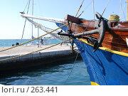 Купить «Фрагмент парусного судна, якорь», фото № 263441, снято 24 апреля 2008 г. (c) Екатерина Овсянникова / Фотобанк Лори