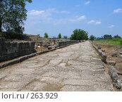 Купить «Раскопки древнего города вблизи Олимпа. Греция», фото № 263929, снято 29 июня 2007 г. (c) Юлия Селезнева / Фотобанк Лори