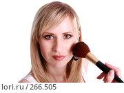 Купить «Девушка красится», фото № 266505, снято 25 апреля 2007 г. (c) Гладских Татьяна / Фотобанк Лори
