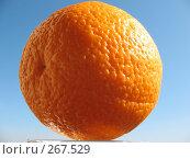 Купить «Апельсин на фоне неба», фото № 267529, снято 26 апреля 2008 г. (c) Заноза-Ру / Фотобанк Лори