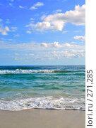 Купить «Морской прибой на тропическом пляже. Тунис», фото № 271285, снято 23 сентября 2018 г. (c) Вероника Галкина / Фотобанк Лори