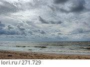 Купить «Пасмурное небо над морем», фото № 271729, снято 17 августа 2018 г. (c) Катыкин Сергей / Фотобанк Лори