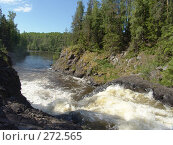 Купить «Водопад Кивач», фото № 272565, снято 17 июня 2006 г. (c) Елена Александрова / Фотобанк Лори