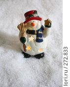 Купить «Снеговик на снегу», фото № 272833, снято 19 ноября 2006 г. (c) Морозова Татьяна / Фотобанк Лори