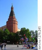 Угловая Арсенальная башня Московского Кремля (2008 год). Редакционное фото, фотограф lana1501 / Фотобанк Лори