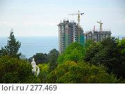 Купить «Строящийся дом в Сочи на фоне моря. Вид из Дендрария», фото № 277469, снято 4 мая 2008 г. (c) Михаил Малышев / Фотобанк Лори