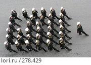 Купить «Отряд военных на параде», фото № 278429, снято 7 мая 2008 г. (c) Юлия Селезнева / Фотобанк Лори