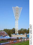 Купить «Стадион. Чемпионат по футболу», фото № 280097, снято 19 марта 2019 г. (c) ElenArt / Фотобанк Лори