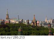 Купить «Собор Василия Блаженного и Спасская башня Кремля», фото № 280213, снято 8 мая 2008 г. (c) Антон Белицкий / Фотобанк Лори