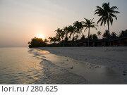 Купить «Восход на океанском побережье», фото № 280625, снято 19 сентября 2018 г. (c) SummeRain / Фотобанк Лори