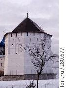 Купить «Крепостная башня монастыря. Сергиев Посад», фото № 280677, снято 1 марта 2008 г. (c) Sergey Toronto / Фотобанк Лори