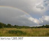 Радуга над полем. Стоковое фото, фотограф Комоедова Зоя Николаевна / Фотобанк Лори