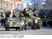 Купить «Колонна военной техники перед Красной площадью», эксклюзивное фото № 287629, снято 5 мая 2008 г. (c) Журавлев Андрей / Фотобанк Лори