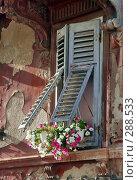 Купить «Старое окно», фото № 288533, снято 15 августа 2018 г. (c) Николай Винокуров / Фотобанк Лори