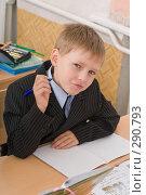 Купить «Школьник  на уроке», фото № 290793, снято 14 мая 2008 г. (c) Федор Королевский / Фотобанк Лори