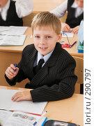 Купить «Школьник на уроке», фото № 290797, снято 14 мая 2008 г. (c) Федор Королевский / Фотобанк Лори