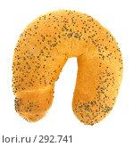 Купить «Рогалик с маком на белом фоне», эксклюзивное фото № 292741, снято 19 апреля 2008 г. (c) Juliya Shumskaya / Blue Bear Studio / Фотобанк Лори