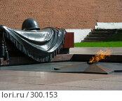 """Купить «Могила """"Неизвестного солдата"""".  Вечный огонь.», эксклюзивное фото № 300153, снято 27 апреля 2008 г. (c) lana1501 / Фотобанк Лори"""
