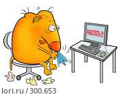 Купить «Больной в офисе», иллюстрация № 300653 (c) Лукиянова Наталья / Фотобанк Лори