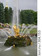 Купить «Петродворец, нижний парк», фото № 304153, снято 23 июля 2005 г. (c) Александр Секретарев / Фотобанк Лори