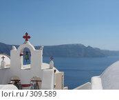 Греция. о. Санторини. г. Иа (2006 год). Стоковое фото, фотограф Елена Воронкова / Фотобанк Лори