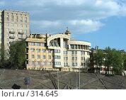 Купить «Пятиэтажный клубный жилой дом на 12 квартир, построен в 2003 году. 7-й Ростовский переулок, 23. Район Хамовники. Москва», эксклюзивное фото № 314645, снято 27 апреля 2008 г. (c) lana1501 / Фотобанк Лори