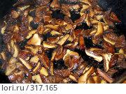 Купить «Жареные грибы», фото № 317165, снято 21 января 2019 г. (c) ElenArt / Фотобанк Лори