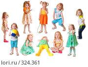Купить «Маленькая девочка на белом фоне», фото № 324361, снято 8 июня 2008 г. (c) Майя Крученкова / Фотобанк Лори